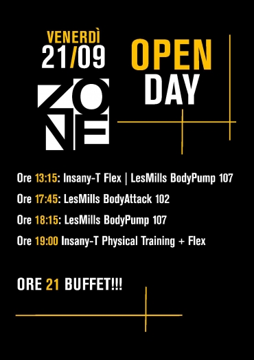21 settembre: OPEN DAY ZONE