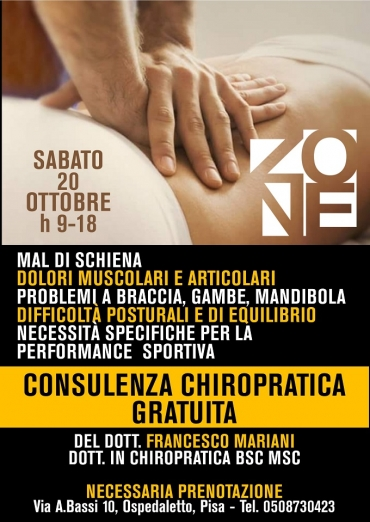 20/10 Consulenza chiropratica gratuita